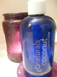 bottle of coconut oil lotion