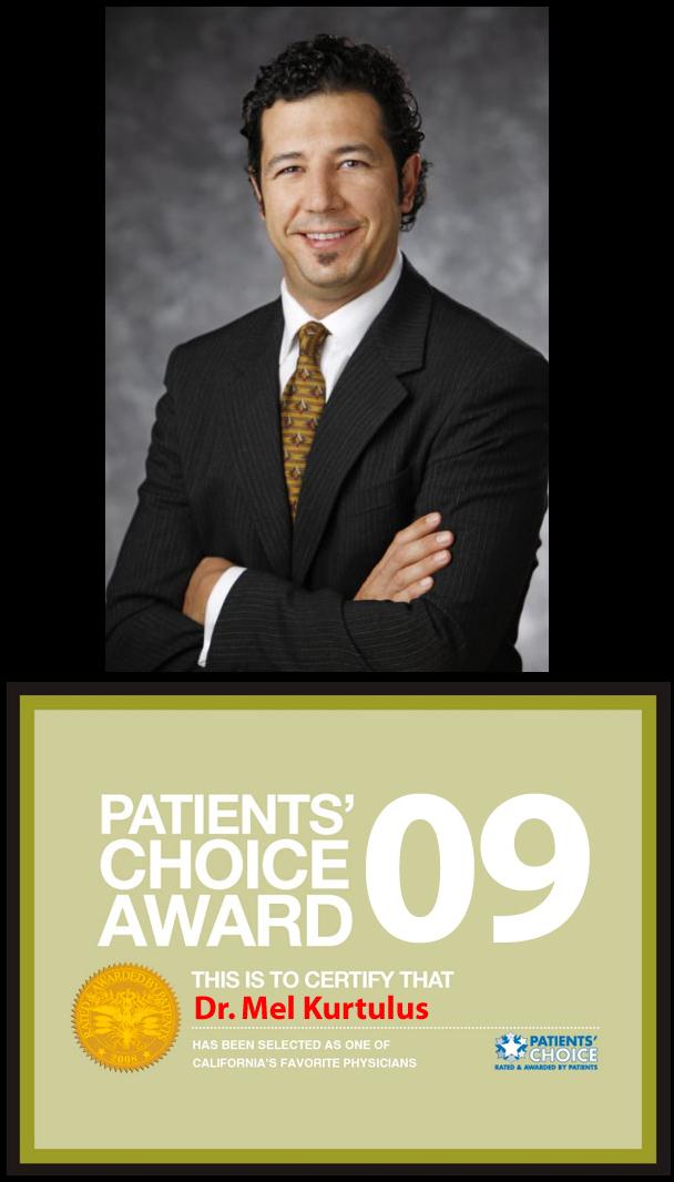 Dr. Mel Kurtulus,recipient of the 2009 Patient's Choice Award