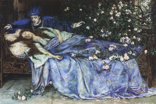 Sleeping Beauty painting by Henry Meynell Rheam