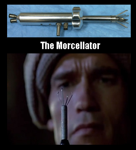 A morcellator