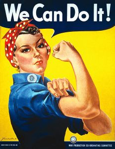 "Rosie the Riveter poster ""We can do it"""