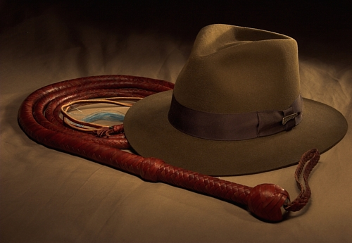 Bullwhip and Indian Jones hat