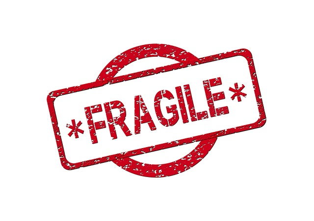 A stamp that reads Fragile