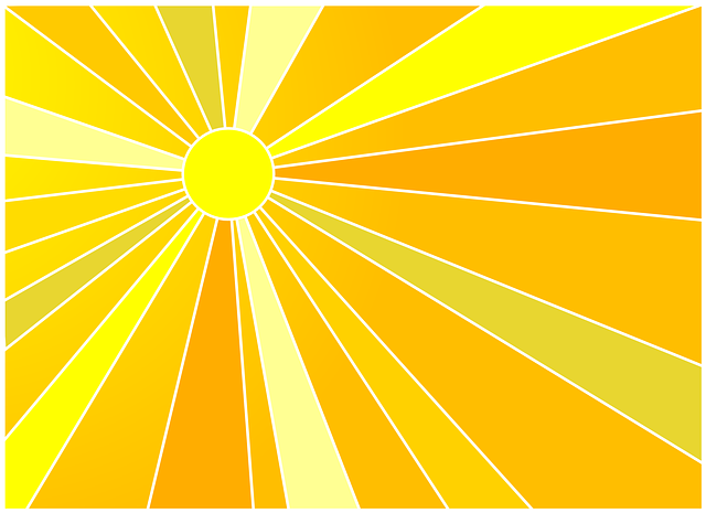 Illustration of sunshine