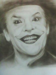 Jack Nicholson portraying The Joker in Batman the movie