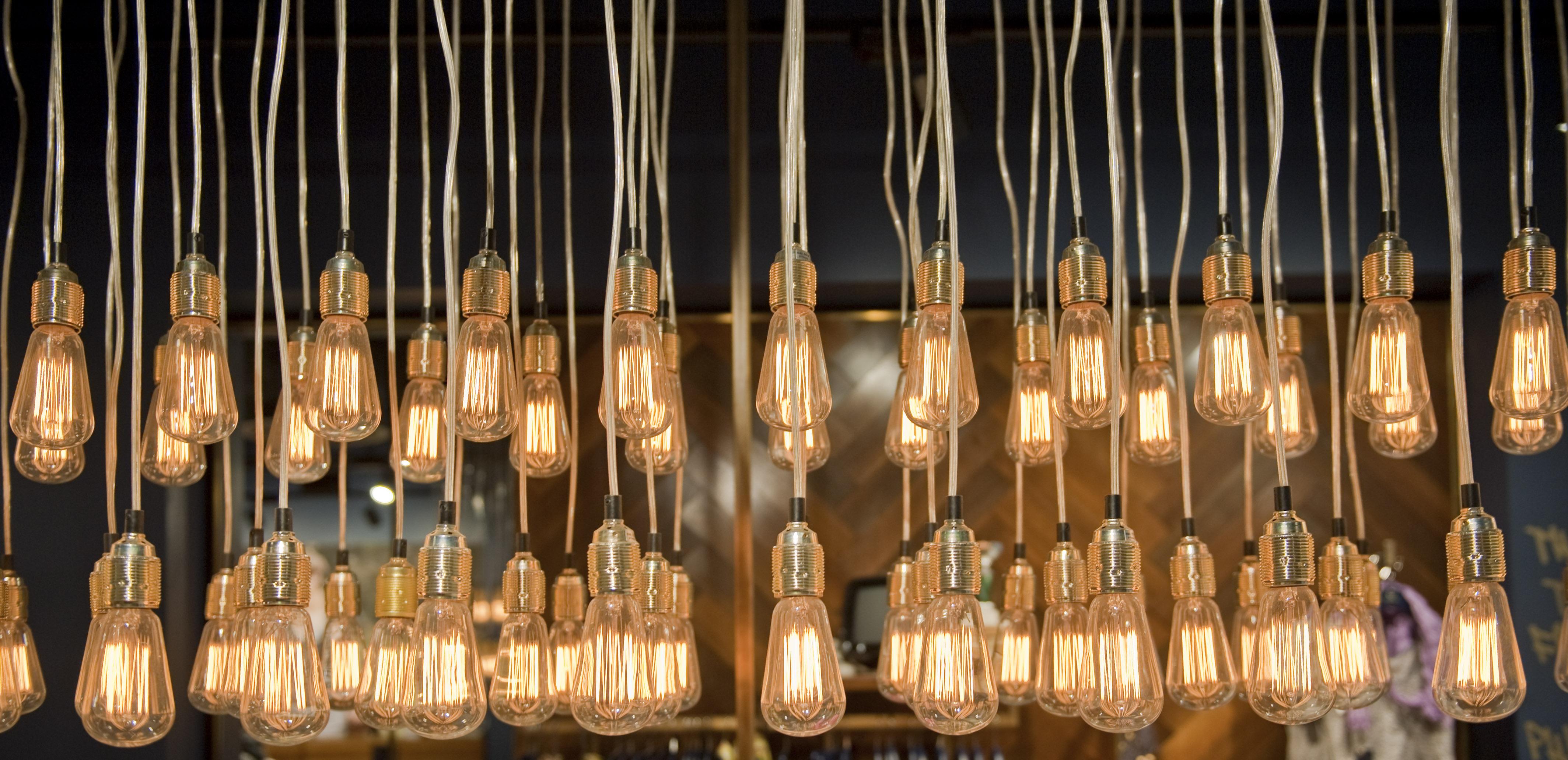 a series of lightbulbs