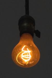 A single lightbulb