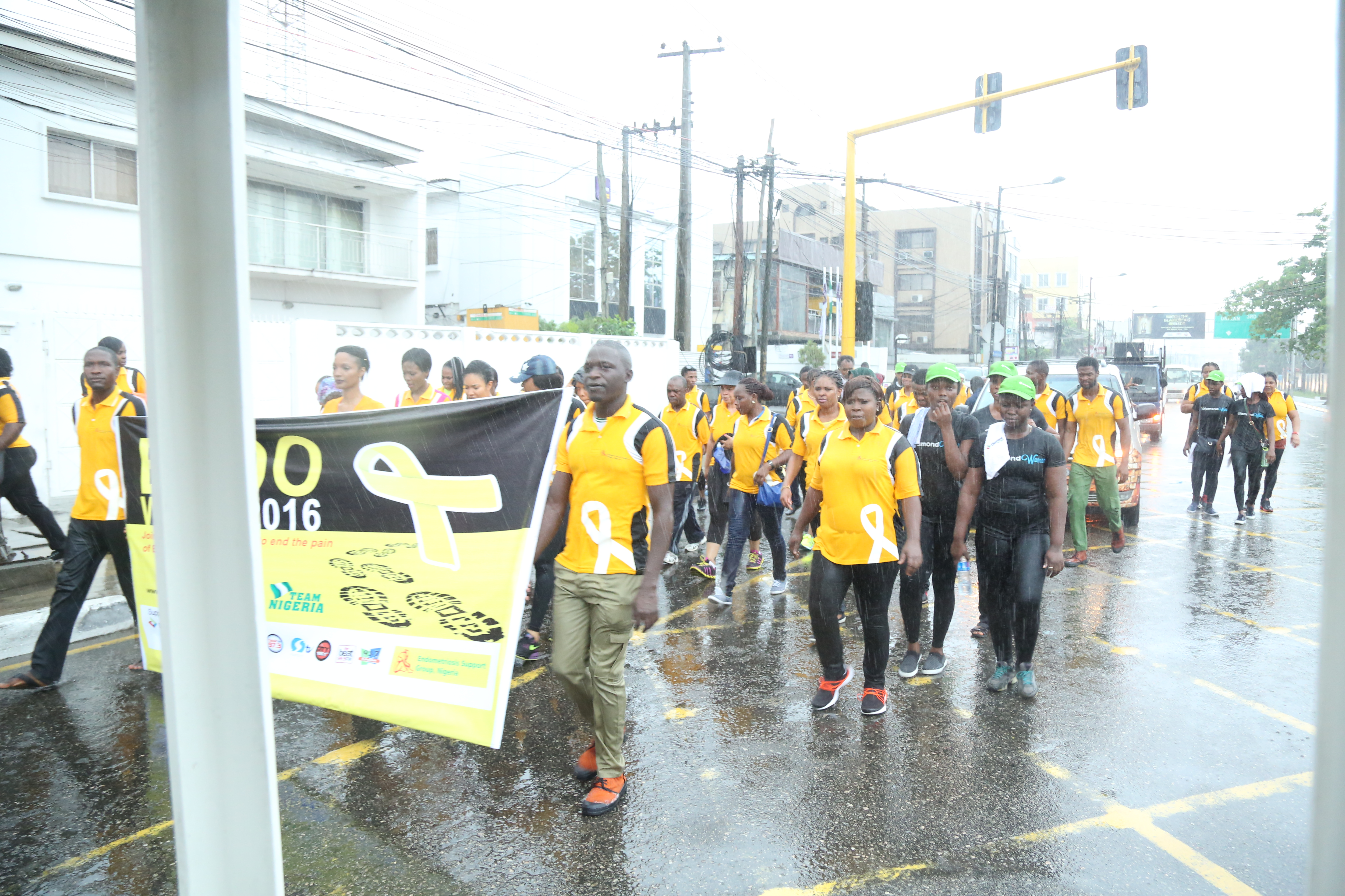 People walking in Nigeria's 2015 Endo Walk