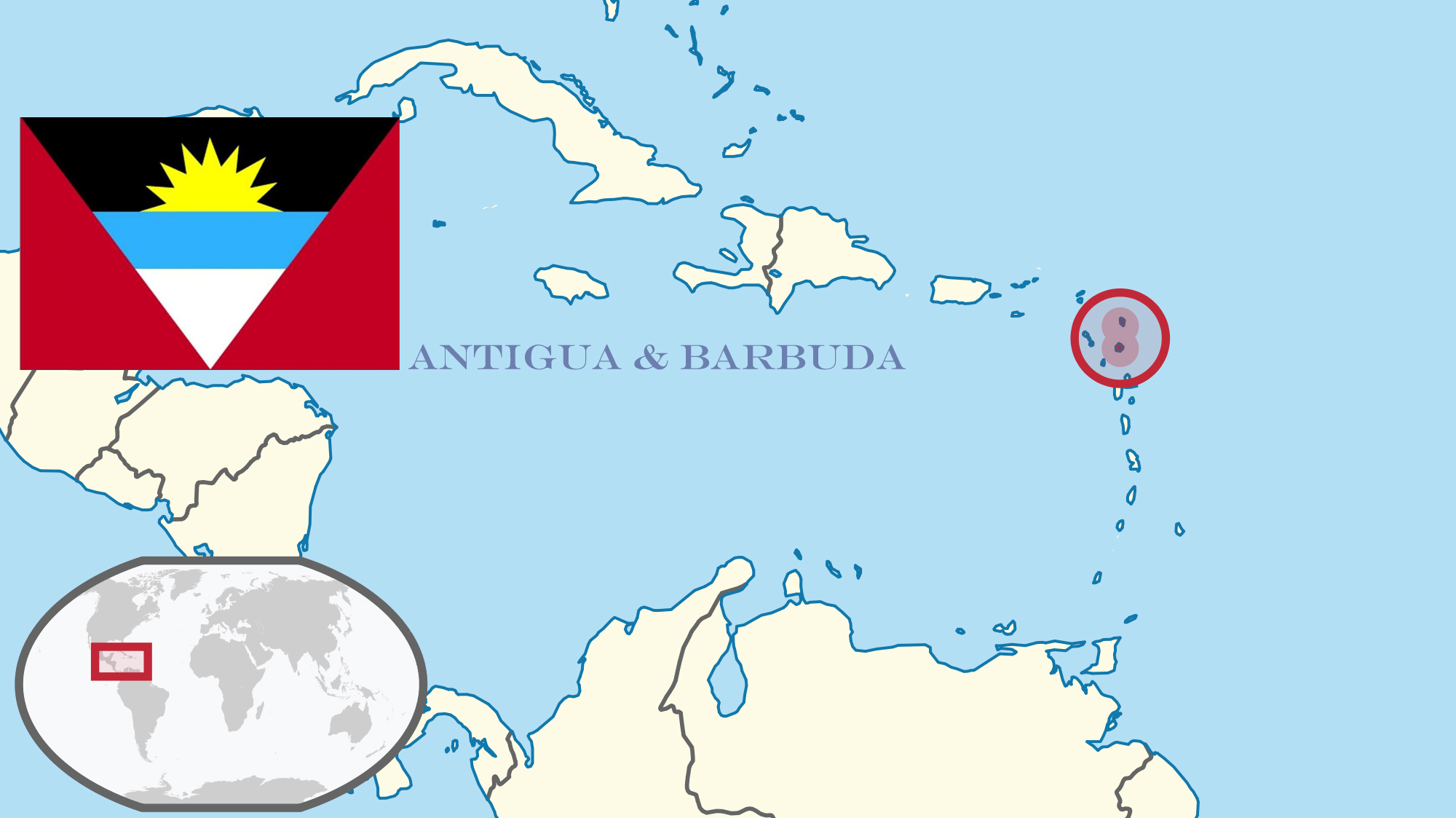 Map of Antigua & Barbuda
