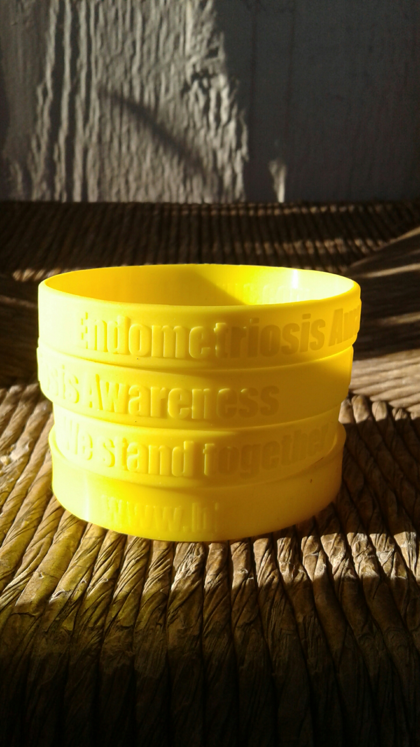 Yellow Endometriosis awareness bracelets