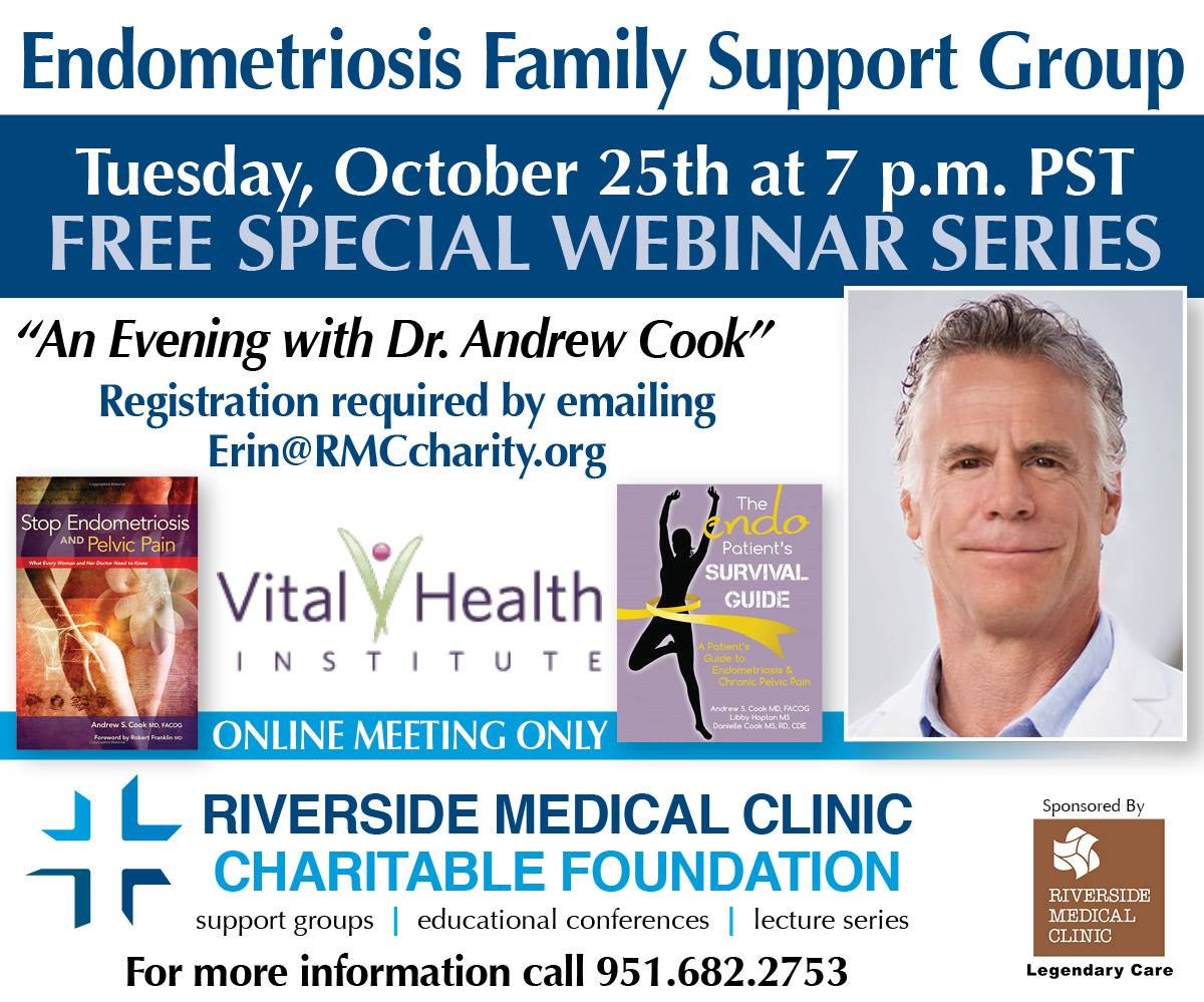 Flyer for webinar with Dr. Andrew Cook