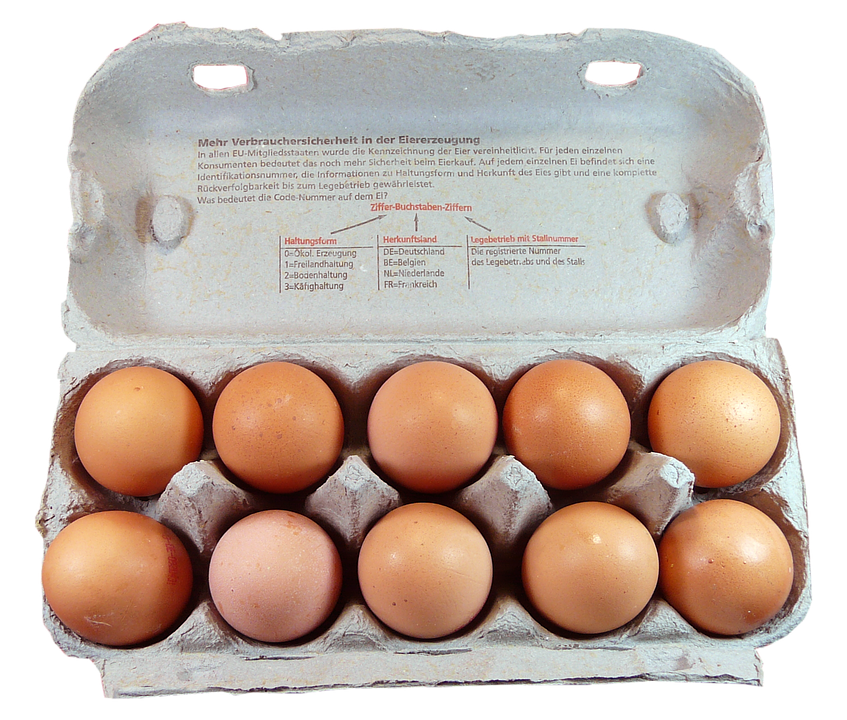 Carton of one dozen eggs