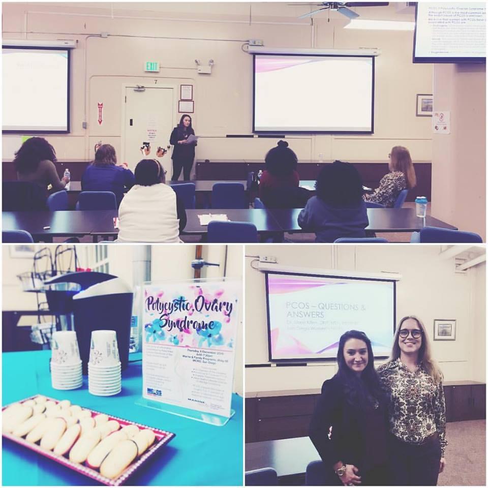 Photos of PCOS presentation event