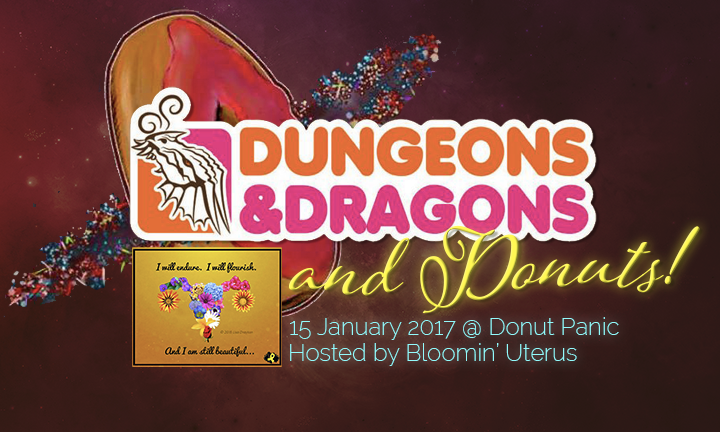 Dungeons & Dragons & Donuts logo from 1-15-17 game
