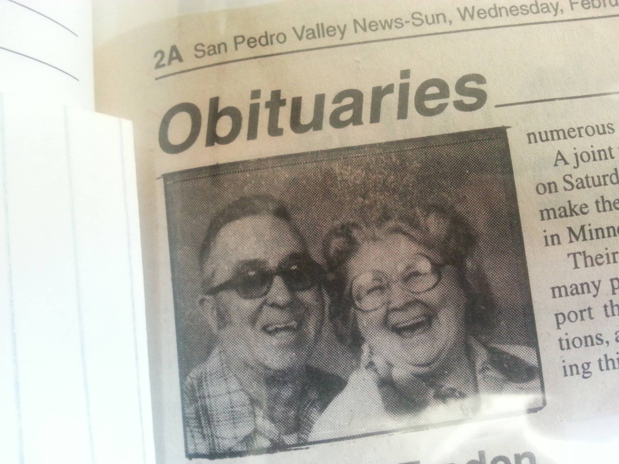 Obituary of Water Freden and Annamatilda Freden