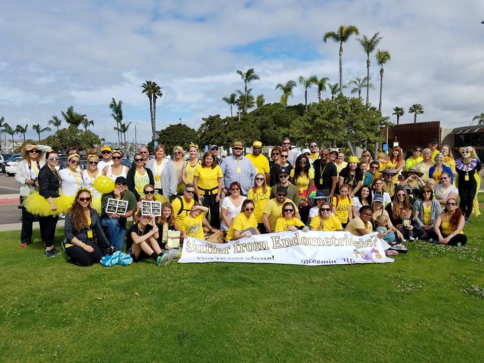 Group photo for 2017 Endometriosis Walk