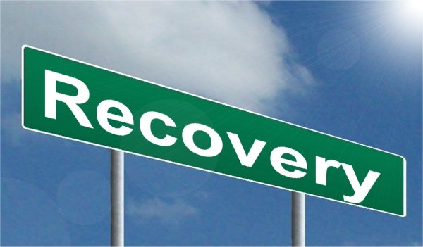 "Road sign that reads ""recovery"""
