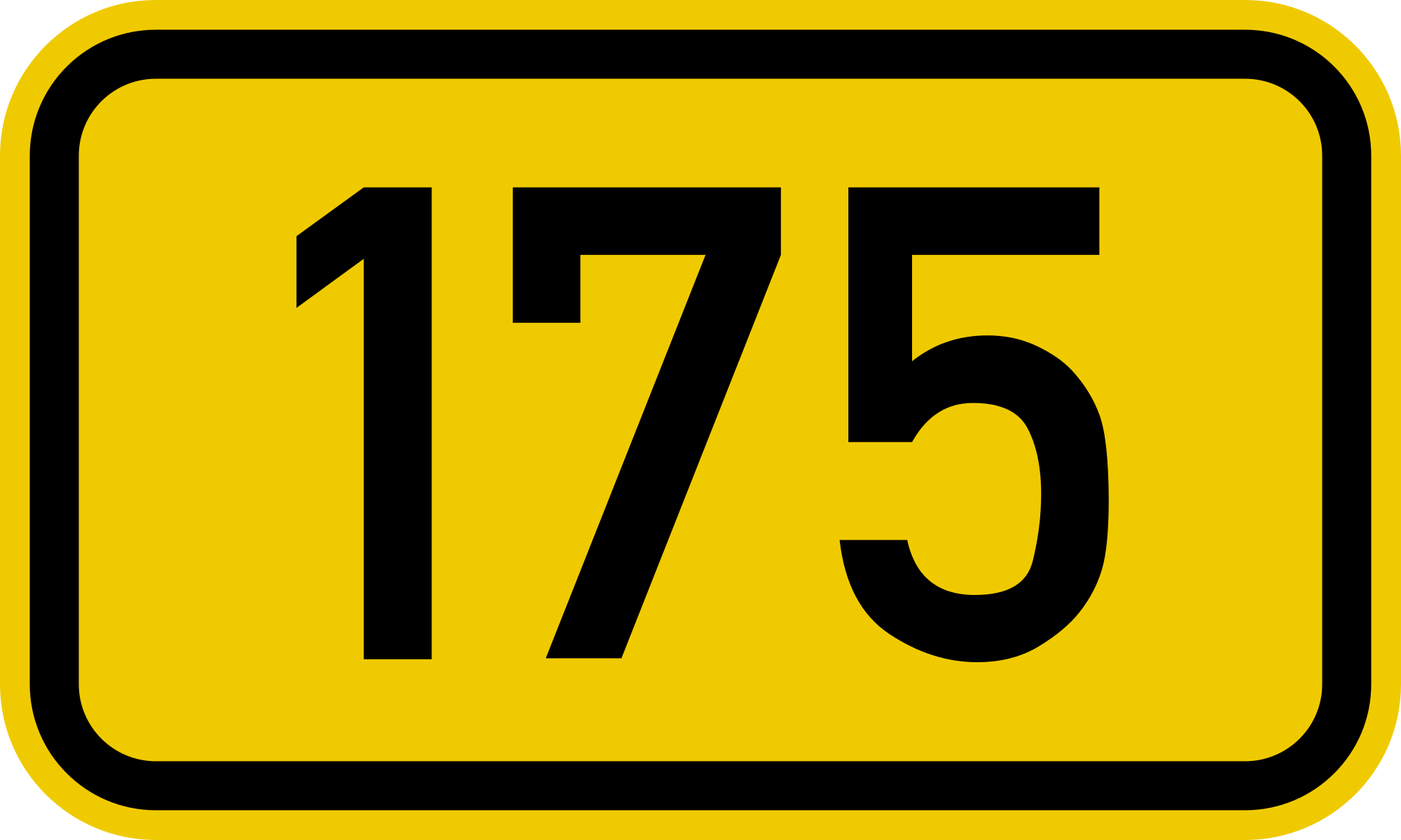 Sign that reads 175