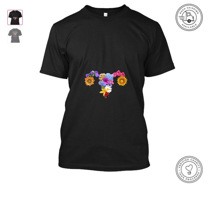 Bloomin' Uterus t-shirt