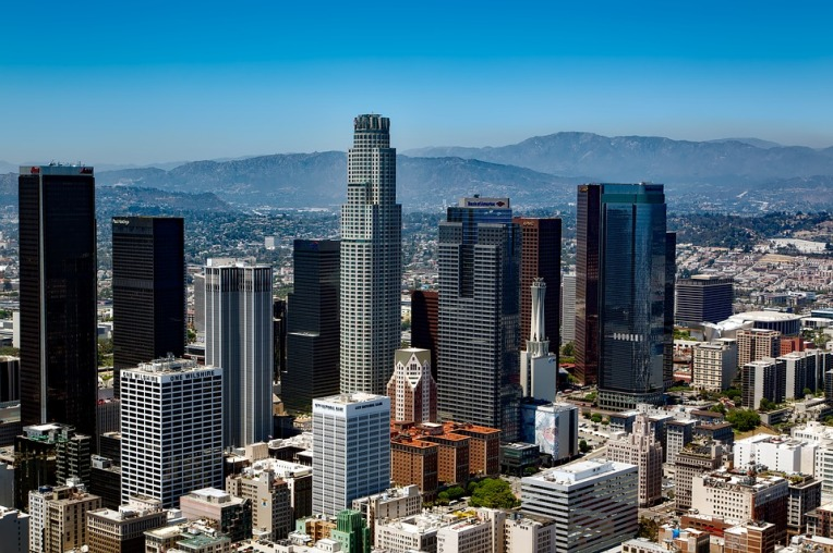 Cityscape of downtown Los Angeles