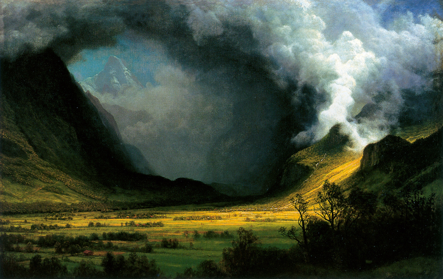 A storm in the mountains