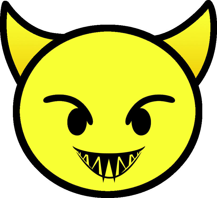 Yellow devil face