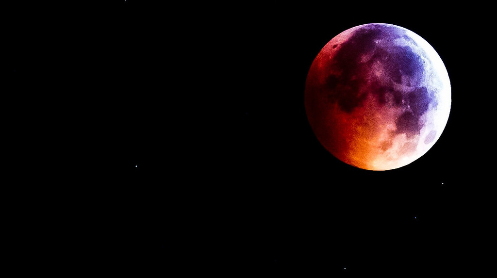 Blood red full moon
