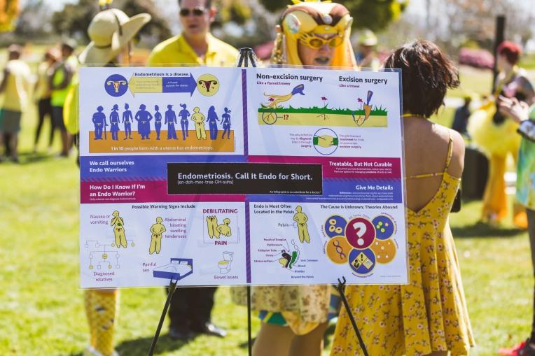 Infographic re: Endometriosis by artist Sarah Soward