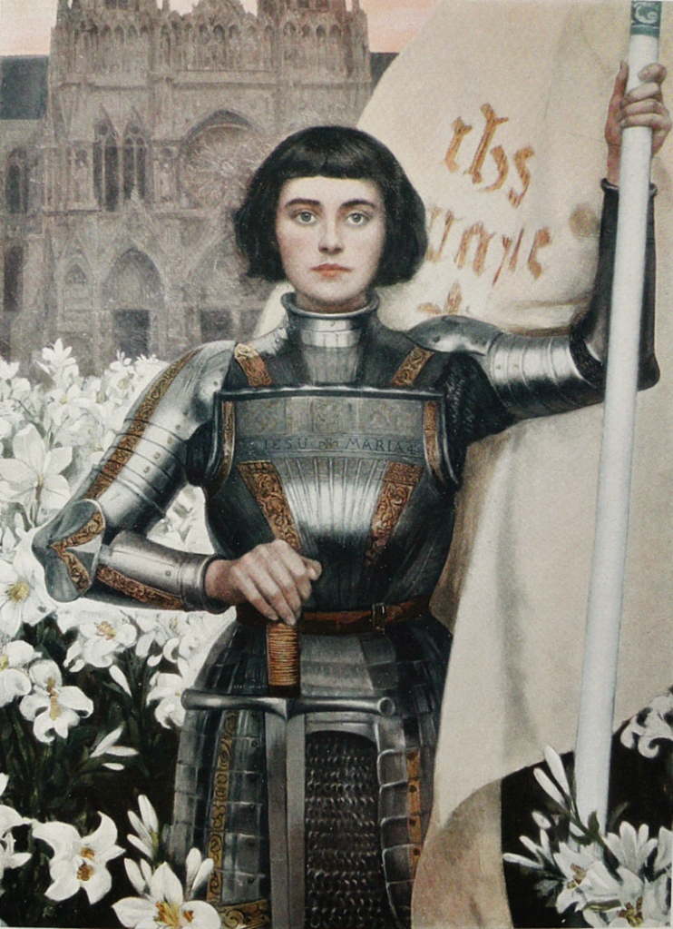 A 1903 engraving of Joan of Arc by Albert Lynch featured in the Figaro Illustre magazine