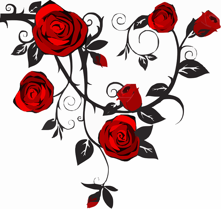 Scrolling roses image