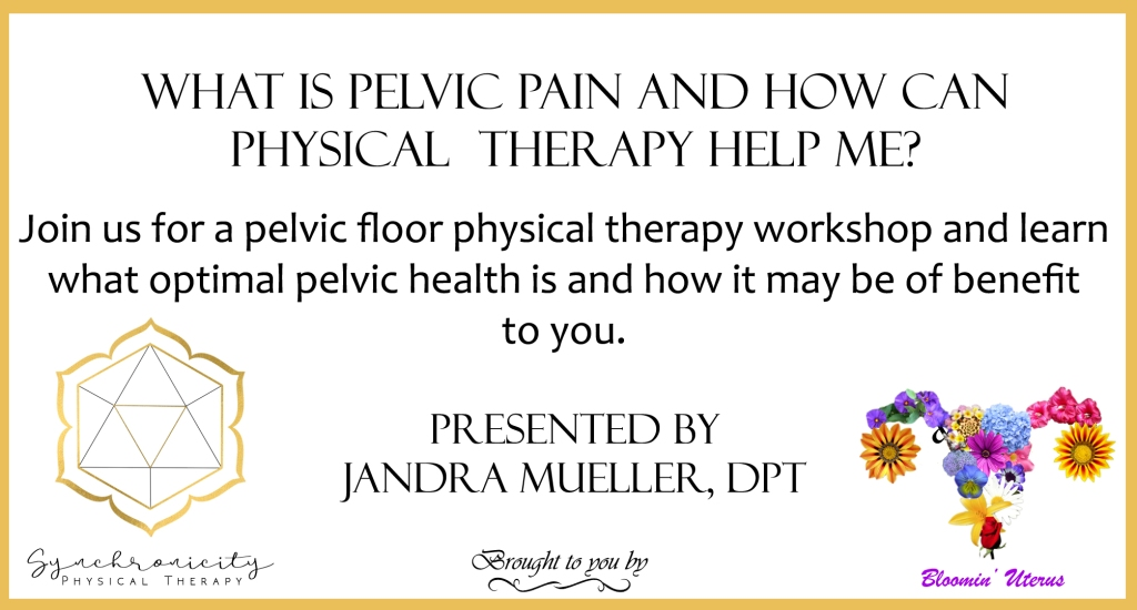 Free pelvic floor therapy workshop flyer
