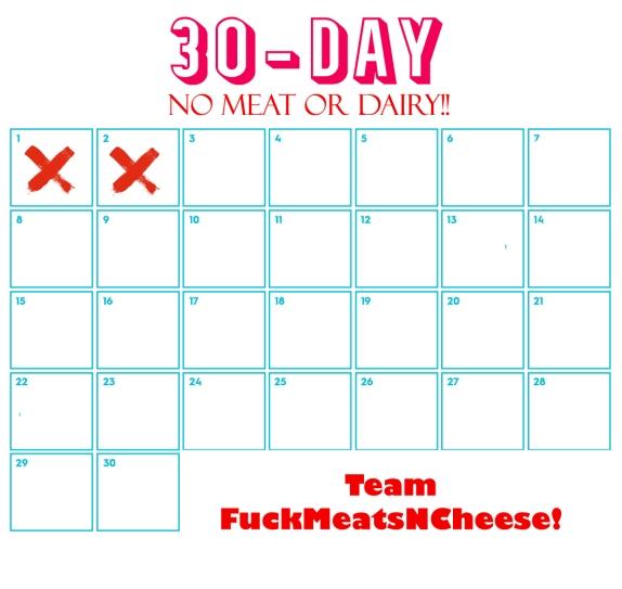 30-day challenge calendar