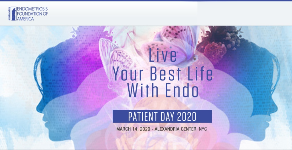 Endometriosis Foundation of America's title information for Patient Day 2020, March 14, 2020 in New York