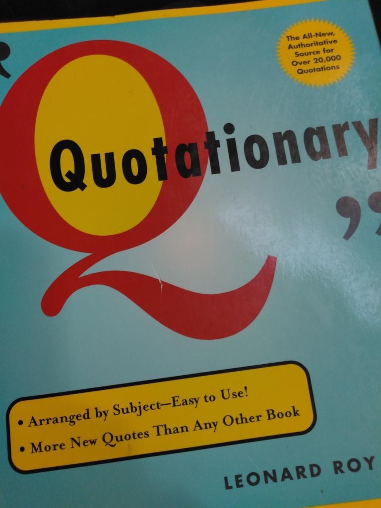 the book Quotationary by Leonard Roy Frank