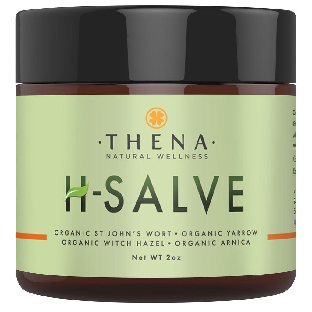 Jar of H-Salve, an anti-inflammatory salve